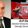 Arif Dede'nin 18 Mart Çanakkale Zaferi ve Şehitleri Anma Günü Mesajı