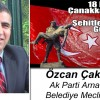 Özcan Çakmakçı'nın 18 Mart Çanakkale Zaferi ve Şehitleri Anma Günü Mesajı
