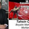 Tahsin Özdil'in 18 Mart Çanakkale Zaferi ve Şehitleri Anma Günü Mesajı
