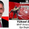 Yüksel Emir'in 18 Mart Çanakkale Zaferi ve Şehitleri Anma Günü Mesajı