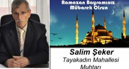 Salim Şeker'in Ramazan Bayramı Mesajı
