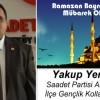 Yakup Yerdelen'in Ramazan Bayramı Mesajı