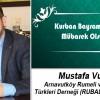 Mustafa Vural'ın Kurban Bayramı Mesajı