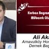 Ali Akar'ın Kurban Bayramı Mesajı