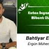 Bahtiyar Ergün'ün Kurban Bayramı Mesajı