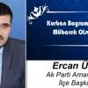 Ercan Üner'in Kurban Bayramı Mesajı