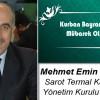 Mehmet Emin Yerdelen'in Kurban Bayramı Mesajı