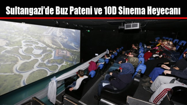 Sultangazi'de Buz Pateni ve 10D Sinema Heyecanı