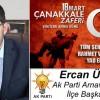 Ercan Üner'in Çanakkale Zaferi ve Şehitleri Anma Günü Mesajı