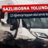 Sazlıbosna Yolunda Öğrenci Servisi Kaza Yaptı