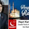Hayri Karabıyık'ın Ramazan Ayı Mesajı