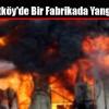 Arnavutköy'de Bir Fabrikada Yangın Çıktı