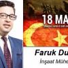 Faruk Duman'ın Çanakkale Zaferi ve Şehitleri Anma Günü Mesajı