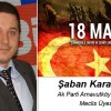 Şaban Karasakal'ın Çanakkale Zaferi ve Şehitleri Anma Günü Mesajı