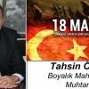 Tahsin Özdil'in Çanakkale Zaferi ve Şehitleri Anma Günü Mesajı