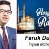 Faruk Duman'ın Ramazan Ayı Mesajı
