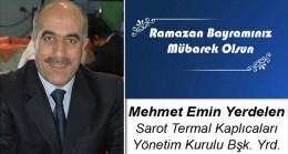 Mehmet Emin Yerdelen'in Ramazan Bayramı Mesajı