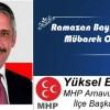 Yüksel Emir'in Ramazan Bayramı Mesajı