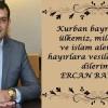 Ercan Bayrak'ın Kurban Bayramı Mesajı