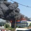 Hadımköy'de bir tekstil fabrikasında yangın çıktı