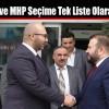 AK Parti ve MHP Seçime Tek Liste Olarak Giriyor