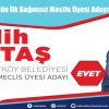 Arnavutköy'ün İlk Bağımsız Meclis Üyesi Adayı Salih Aktaş
