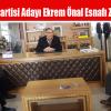 Saadet Partisi Adayı Ekrem Önal Esnafı Ziyaret Etti