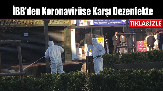 İBB'den Koronavirüse Karşı Arnavutköy'de Dezenfekte