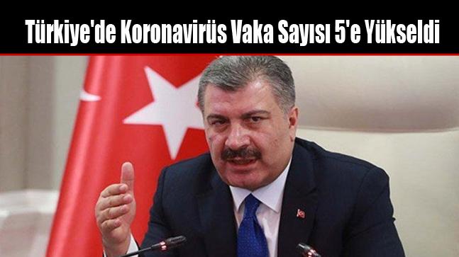 Türkiye'de Koronavirüs Vaka Sayısı 5'e Yükseldi
