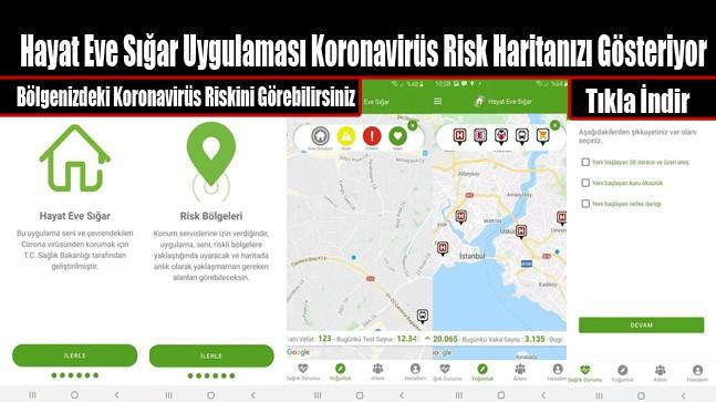 'Hayat Eve Sığar' Uygulaması Koronavirüs Risk Haritanızı Gösteriyor