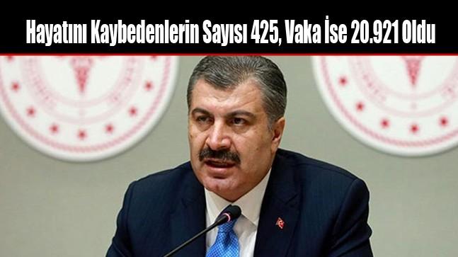 Hayatını Kaybedenlerin Sayısı 425, Vaka İse 20.921 Oldu