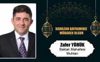 Zafer Yörük'ün Ramazan Bayramı Mesajı
