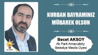 Becet Aksoy'un Kurban Bayramı Mesajı