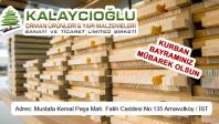 Kalaycıoğlu Orman Ürünleri ve Yapı Malzemeleri'nden Kurban Bayramı Mesajı