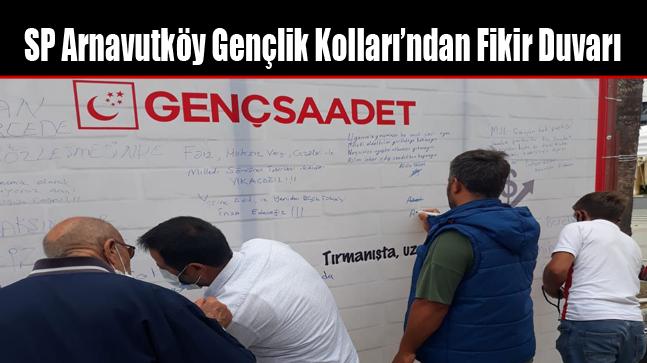SP Arnavutköy Gençlik Kolları'ndan Fikir Duvarı