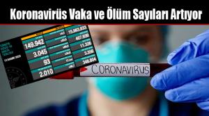 Koronavirüs Vaka ve Ölüm Sayıları Artıyor